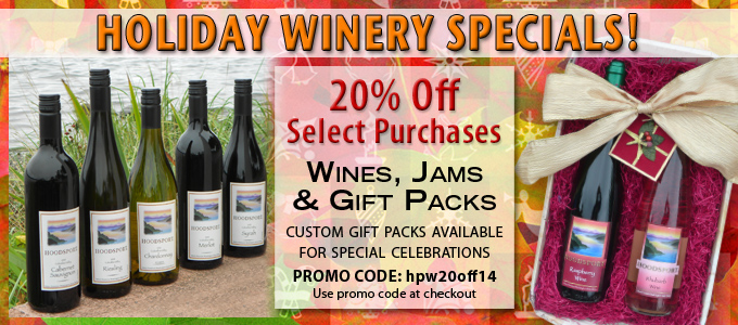 Hoodsport's Holiday Wine Specials